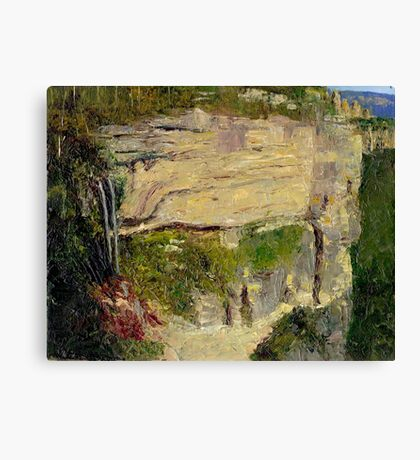 Katoomba Falls, Echo Point and The Three Sisters Canvas Print