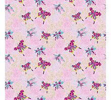 Сгеу floral and butterflies pattern.Doodles Photographic Print