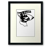 Pixies Band Alternative Punk Rock Custom Black T-shirt Size S M L XL Framed Print