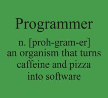 Programmer an Organism that turns caffeine and pizza into software T Shirt Funny Tees S M L XL by beardburger