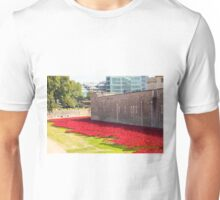 Ceramic poppies at the Tower of London Unisex T-Shirt