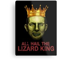 All Hail The Lizard King Metal Print