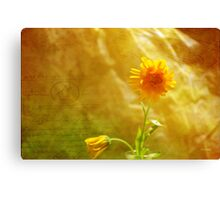 Yellow Note Canvas Print