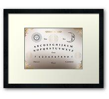 Ouija Board, Spirit Board, Witchcraft, Magic Framed Print