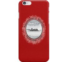 New York City skyline in November 2000 from the Staten Island Ferry.* iPhone Case/Skin