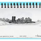 New York City skyline in November 2000 from the Staten Island Ferry.* by James Lewis Hamilton