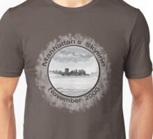 New York City skyline in November 2000 from the Staten Island Ferry.* Unisex T-Shirt