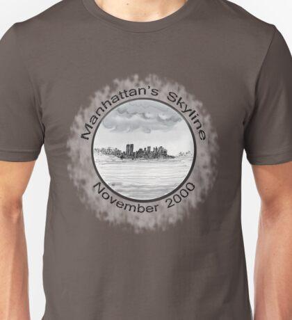 New York City skyline in November 2000 from the Staten Island Ferry.* Unisex T-Shirt