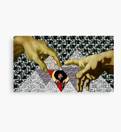 The Creation of Jimi Canvas Print