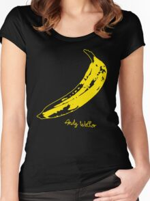 Retro Velvet Underground Andy Warhol Banana Rock Black T Shirt Sz S M L XL Women's Fitted Scoop T-Shirt