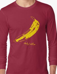 Retro Velvet Underground Andy Warhol Banana Rock Black T Shirt Sz S M L XL Long Sleeve T-Shirt