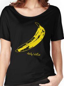 Retro Velvet Underground Andy Warhol Banana Rock Black T Shirt Sz S M L XL Women's Relaxed Fit T-Shirt