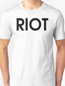Riot T-Shirt funny t shirt cool tshirt tv t shirt drinking shirt (also available on crewneck sweatshirts and hoodies) T-Shirt