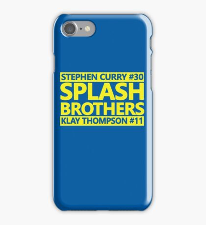 SPLASH BROTHERS (#11 and #30) iPhone Case/Skin