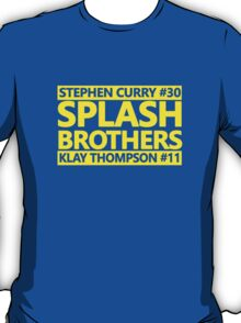 SPLASH BROTHERS (#11 and #30) T-Shirt