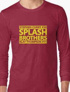 SPLASH BROTHERS (#11 and #30) Long Sleeve T-Shirt