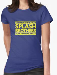 SPLASH BROTHERS (#11 and #30) Womens Fitted T-Shirt