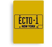 Ecto 1 Plate Canvas Print