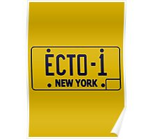 Ecto 1 Plate Poster