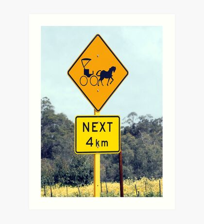 Only in the country! Art Print