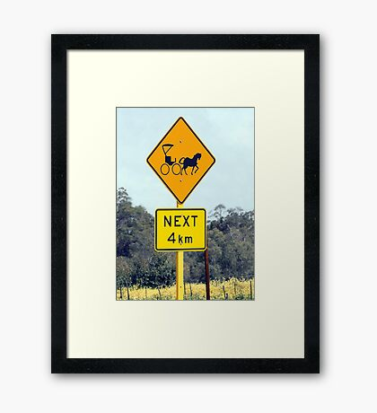 Only in the country! Framed Print