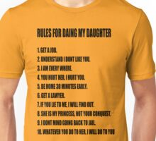 Rules For Dating My Daughter shirt t shirt Perfect Father's Gift Unisex T-Shirt