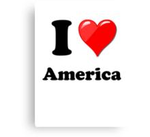 I Love America Canvas Print