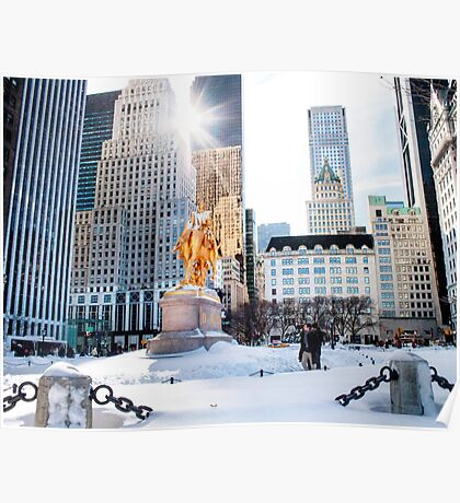 Grand Army Plaza, Central Park Poster