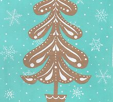 Christmas tree on craft by lizblackdowding