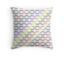 Hexagon School #2 Pencils Primary Colors Red Blue Black Yellow Style Number Two Throw Pillow