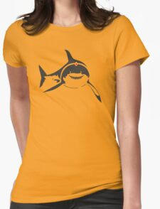 SHARKS WITH FRICKIN LASER BEAMS T-Shirt Soft Funny AUSTIN POWERS TEE Dr Evil Womens Fitted T-Shirt