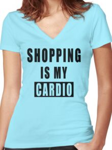 Shopping Is My Cardio !! T-Shirt -Shopping Is My Cardio Graphic -T Women's Fitted V-Neck T-Shirt