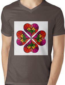 Lotus Flower Heart by IdeaJones Mens V-Neck T-Shirt