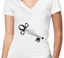 Alohomora Skeleton Key  Women's Fitted V-Neck T-Shirt