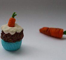 Carrot Cupcake Carrot by Babz Runcie