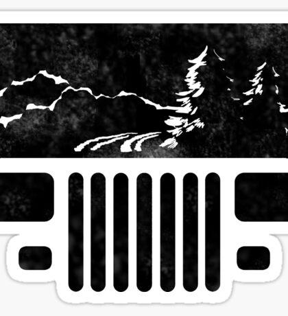 Adventuring YJ Jeep Sticker
