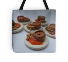 pie 'n' chips 'n' beans Tote Bag