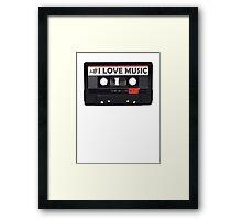 Nerd things - I love music Framed Print