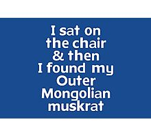 I sat on the chair & then I found my Outer Mongolian muskrat Photographic Print