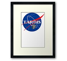 Tardis NASA T Shirt Parody Dr Dalek Who Doctor Space Time BBC Tenth Police Box Framed Print