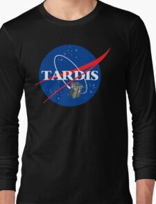 Tardis NASA T Shirt Parody Dr Dalek Who Doctor Space Time BBC Tenth Police Box Long Sleeve T-Shirt