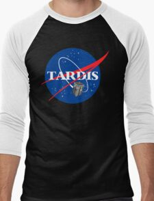 Tardis NASA T Shirt Parody Dr Dalek Who Doctor Space Time BBC Tenth Police Box Men's Baseball ¾ T-Shirt