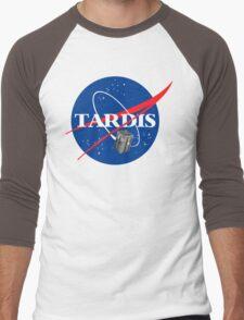 Tardis NASA T Shirt Parody Dr Dalek Who Doctor Space Time BBC Tenth Police Box Men's Baseball ¾ T-Shirt