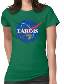 Tardis NASA T Shirt Parody Dr Dalek Who Doctor Space Time BBC Tenth Police Box Womens Fitted T-Shirt