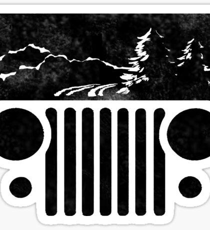 Adventuring CJ Jeep Sticker