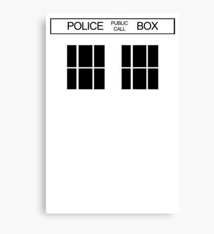 THE BLUE BOX T Shirt Doctor Doc Dalek BBC Bow Tie TV Tenth Eleventh Who Police Canvas Print