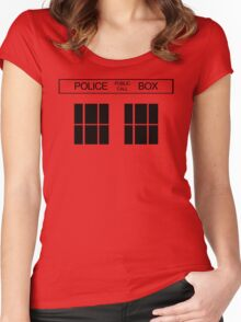 THE BLUE BOX T Shirt Doctor Doc Dalek BBC Bow Tie TV Tenth Eleventh Who Police Women's Fitted Scoop T-Shirt