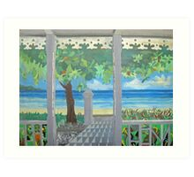 Stacy's Hillsview Guesthouse-1966-Montego Bay Art Print