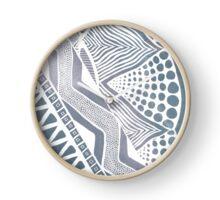Tribal Grey Clock