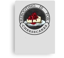 Rebooting Is for Cheescakes (Oklahomo Sherlock spoof video) Canvas Print